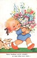 Illustration Illustrateur Mallet Beatrice Notre Bonheur Seraot Complet Si Vous étiez Avec Nous Enfant Fille Chien - Mallet, B.