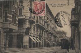 PIACENZA VIA MILANO 1917 ANIMATA TRAMWAY - Piacenza