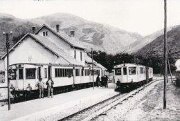 Err (66) Deux Rames Se Croisent En Gare D'Err - Otros Municipios