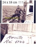 Photo ,  WW2 , Marseille  , Reich  , Privée , Allemand , WwII , 39-45 , 1944 .  ( Vers Le Château D'yf écrit Au Dos ) - Lugares