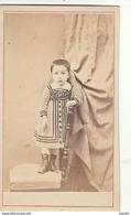 PHOTO CDV 1871 JEUNE FILLE CHIC ROBE MODE Cabinet CHAZAL A CONSTANTINE ALGERIE - Anciennes (Av. 1900)