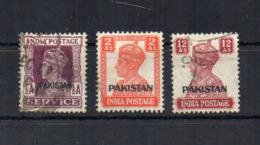PAKISTAN - 1947 - Giorgio VI° - 3 Valori - Sovrastampati Pakistan - Usati - (FDC18535) - Pakistan