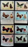 Belize 1977 Animal Papillons Butterflies Yvert 375-382 ** MNH - Belize (1973-...)