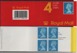 GB 1989 4x Second Class Definitives Walsall MiNr.: 0-113a Barcode Postfrisch UK MNH - Libretti
