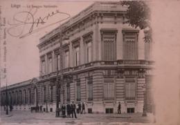 Liege // LA Banque Nationale (animee) Ca 1900 Ed. De Graeve 694 - Luik