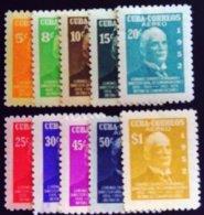 Cuba 1952 Célébrité Celebrity Poste Yvert PA62-71 * MH - Cuba