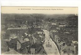 Carte Postale Ancienne Montdidier - Vue Panoramique Prise De L'Eglise Saint Pierre - Montdidier