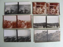 25 PHOTOS STEREO ET 20 PLAQUES VERRE GUERRE 14-18 WW1 TRANCHEE CANON RADIO TELECOMMUNICATION PRISONNIERS - Guerra, Militari