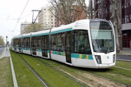 Paris (75) - Ligne 3 - Tramway Des Maréchaux - Rame Citadis 402 Alsthom.  13 Avril 2007, La Rame N°313 Porte D'Ivry - Tramways