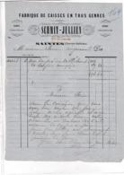 17-Schmit-Jullien Fabrique De Caisses  Saintes  (Charente-Maritime)...18?? - Old Professions