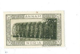 Vignette INDOCHINE ANNAM Noria Hélio Vaugirard BIEN 53 X 32  Colonies Françaises  2 Scans - Indochina (1889-1945)