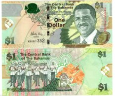 Bahamas Billet 1 Dollar 2015 P71A SIR LYNDEN PINDLING / MUSICIENS NEUF UNC - Bahama's