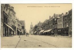 Carte Postale Ancienne Montdidier - Place De L'Hôtel De Ville - Montdidier