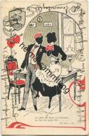 Schattenbild - Studentika - Es Steht Ein Baum... III. Akt Gel. 1905 - Silhouette - Scissor-type