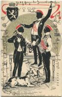Schattenbild - Studentika - Was Sollen Wir Sagen... II. Akt Gel. 1904 - Silhouette - Scissor-type