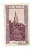 Vignette INDOCHINE Cambodge OUDONG Helio Vaugirard Bien 53 X 32  Colonies Françaises  2 Scans - Indochina (1889-1945)