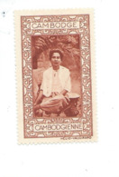 Vignette INDOCHINE Cambodge Cambodgienne Helio Vaugirard Bien 53 X 32  Colonies Françaises  2 Scans - Indochine (1889-1945)