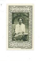 Vignette INDOCHINE Cambodge Cambodgienne Helio Vaugirard Bien 53 X 32  Colonies Françaises  2 Scans - Indochina (1889-1945)