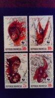 Indonésie Indonesia 1989 Animal Singe Monkey WWF Yvert 1174-1177 ** MNH - Indonesia