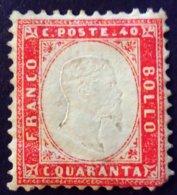 Italie Italy Italia 1862 Victor Emmanuel II Yvert 4 * MH - 1861-78 Victor Emmanuel II.