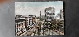 EGYPTE EGITTO مصر EGYPT POSTCARD 1950 RAMIEH STATION SQUARE ALEXANDRIE $$8 - Alexandrië