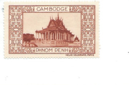 Vignette INDOCHINE Cambodge Phnom Penh Helio Vaugirard Sans Gomme TB 53 X 32  Colonies Françaises  2 Scans - Indochine (1889-1945)