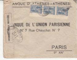 Guerre 1914/18   Enveloppe De GRÈCE     Vers La France   1915     Cachet Censure - Marcofilie (Brieven)