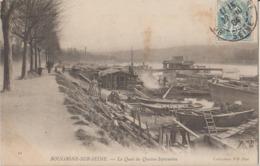92 Boulogne Sur Seine Le Quai Du Quatre Septembre Chantier De Bateaux -48a - Boulogne Billancourt