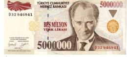 Turkey P.210 5000000 Lirasi 1997 Au - Turchia