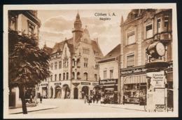 AK/CP Köthen  Bärplatz  Litfaßsäule    Gel/circ.1924  Erhaltung/Cond. 2   Nr. 00923 - Koethen (Anhalt)