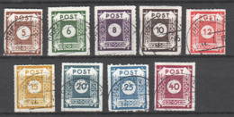 SBZ , Nr 42-50 Postmeistertrennung  Gestempelt , Ungeprüft - Zone Soviétique
