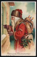 AK/CP Prägelitho Weihnacht Weihnachtsmann  Santa Claus    Gel/circ.  1912  Erhaltung/Cond. 1-   Nr. 00925 - Santa Claus