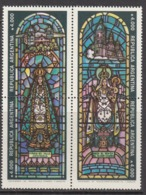 1991 Argentina Christmas Noel Stained Glass Windows Art Complete Block Of 4 MNH - Argentine