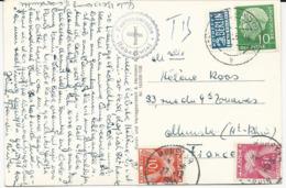 CARTE POSTALE DE R.F.A. 1955 AVEC 2 TIMBRES TAXE - Portomarken