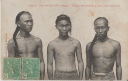 9V Saigon Cochinchine Chinois Mécaniciens à Bord Des Chaloupes Postée En 1909 Timbres 5c Indochine -43a - Viêt-Nam