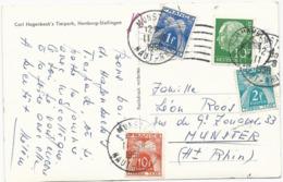 CARTE POSTALE DE R.F.A. 1958 AVEC 3 TIMBRES TAXE - Portomarken