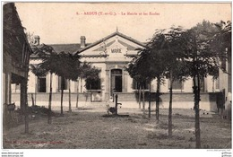ARDUS LA MAIRIE ET LES ECOLES 1915 TBE - Andere Gemeenten