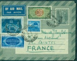 INDE EP Aérogramme Avec 4 Tp En Complément Pour Saintes (FR) 1970 Complet Et Tb. - Covers & Documents
