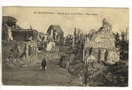Carte Postale Ancienne Montdidier - Entrée De La Rue De Paris - Ruines, Guerre 1914 1918 - Montdidier