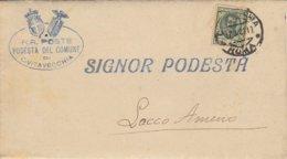 Civitavecchia. 1829.  Annullo Guller CIVITAVECCHIA *ROMA* + Ovale PODESTA DEL COMUNE ... , Su Lettera Completa Di Testo - Storia Postale