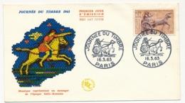 FRANCE => Enveloppe FDC Journée Du Timbre 1963 - Messager Gallo-Romain - PARIS 16 Mars 1963 - Journée Du Timbre
