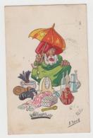 AC146 - Illustration Signée HERZIG - Scènes Et Types De La Rue - Série H - Vieux Brocanteur - Andere Zeichner