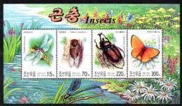 Corée Nord DPR Korea 3239/42 Papillon, Libellule, Coléoptère - Non Classés