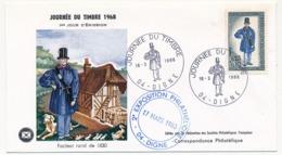FRANCE => Enveloppe FDC Journée Du Timbre 1968 - Facteur Rural De 1830 - 04 DIGNE - 16 Mars 1968 - Día Del Sello