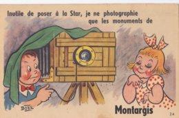 Montargis : Inutile De Poser à La Star, Je Ne Photographie Que Les Monuments De Montargis (Carte Système 10 Vues) - Montargis