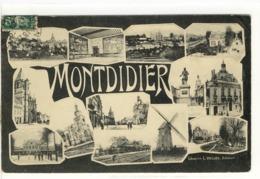 Carte Postale Ancienne Fantaisie Montdidier - Multivues - Montdidier