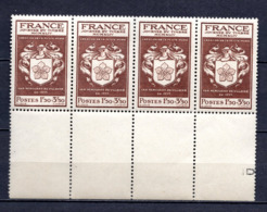 FRANCE LOT DE 4 TIMBRES DE 1944 N 668 NEUF ** 1 ER CHOIX - Unused Stamps