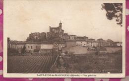 D34 - SAINT PONS DE MAUCHIENS  - Vue Générale - Saint-Pons-de-Mauchiens
