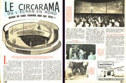 """LE CIRCARAMA Ou L'ECRAN EN ROND  """" 1962 (1) - Ciencia & Tecnología"""