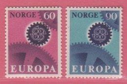 1967 ** (sans Charn., MUH, Postfrish)  Yv  509/10Mi  555/6  NHK  589/90 - Unused Stamps